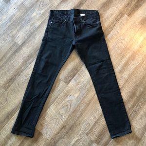 H&M 34x32 Slim Low Waist Black Jeans